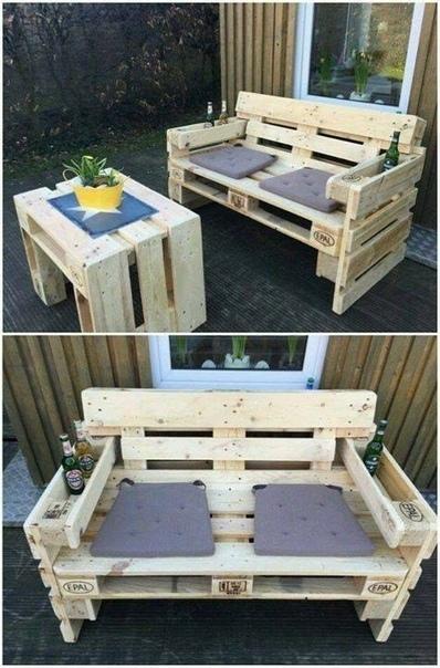 Поддоны. Прекрасная мебель для сада