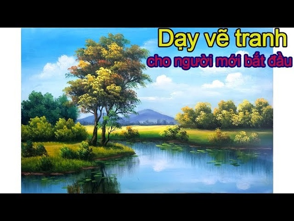 Dạy Vẽ Tranh Phong Cảnh Nước Ngoài, liên hệ học vẽ tại xưởng 0969.033.288. tt Mỹ Thuật Việt tổ chức