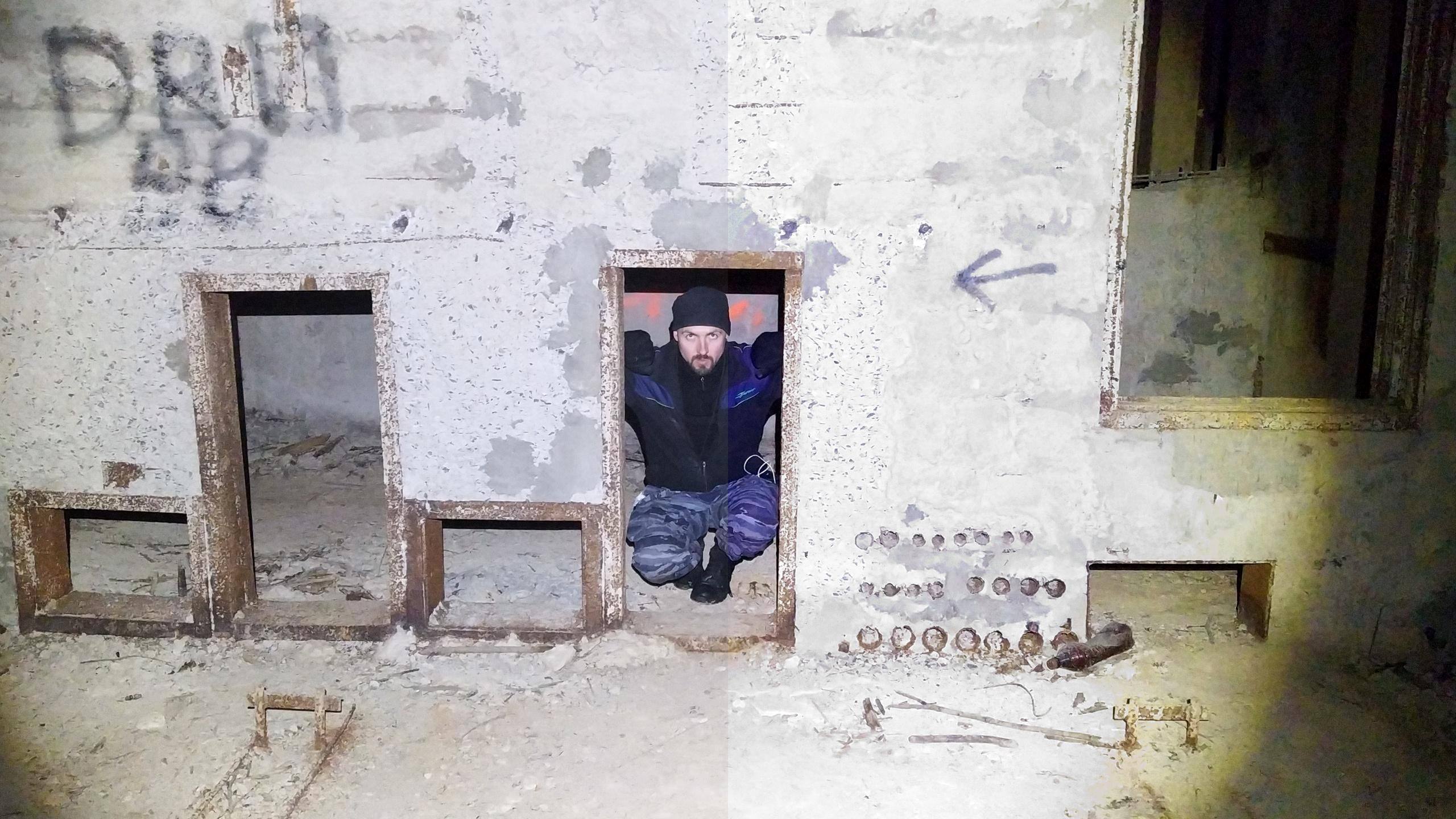 Заброшенный 4-х ярусный полуподземный бункер в Вороново