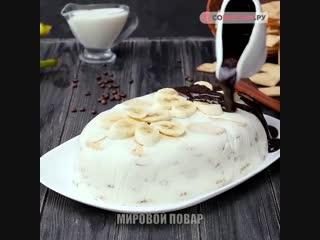 Как приготовить банановыи торт
