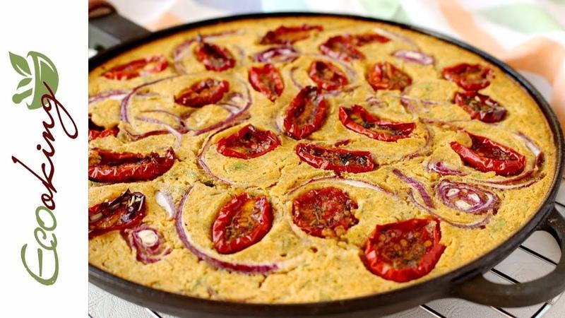 Нутово кабачковая фарината с вялеными томатами веган постная gluten free ПП