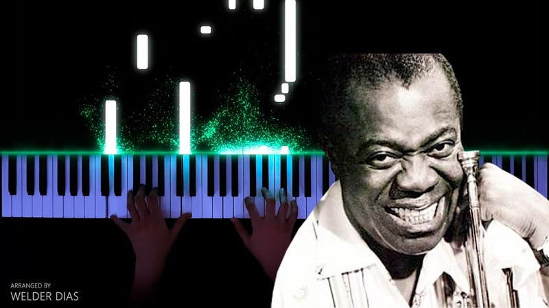 Louis Armstrong What A Wonderful World Piano Cover
