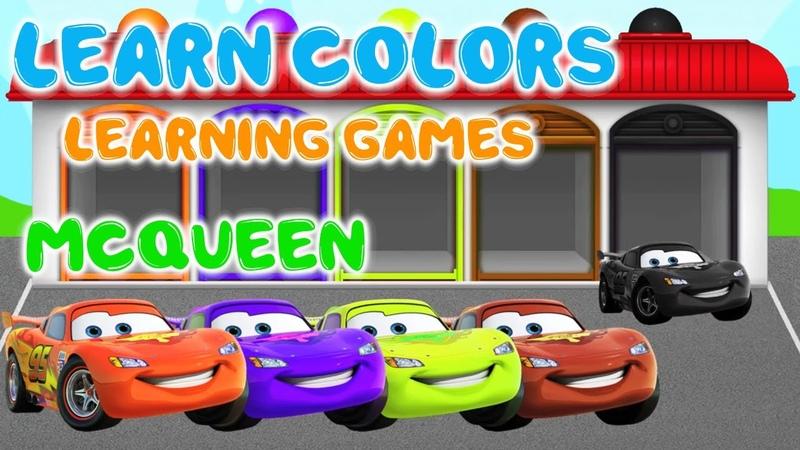 Учим цвета и цифры с McQueen и тачками 40 Мультик для самых маленьких на английском