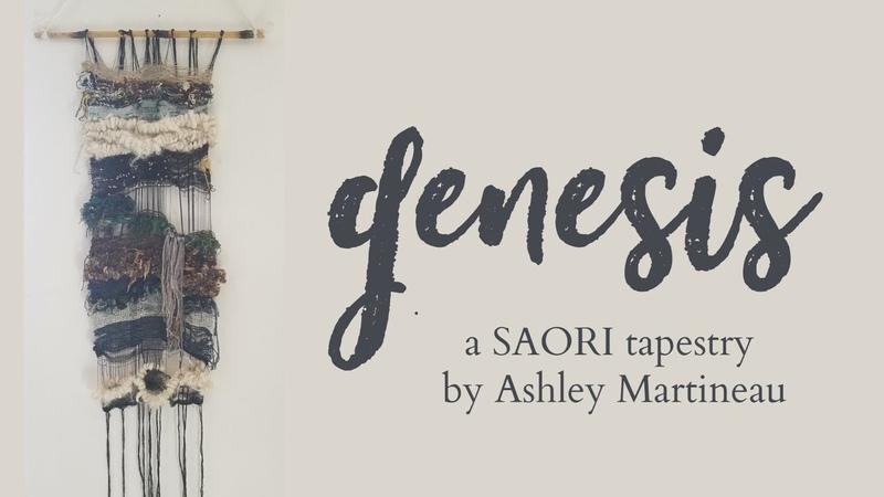 GENESIS a SAORI tapestry by Ashley Martineau LiteratureAsART