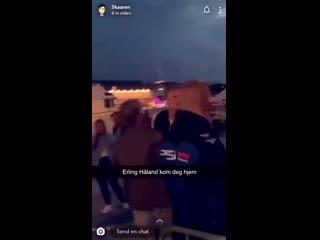 Холанда выгнали из ночного клуба в Норвегии, он устроил перепалку с охранниками