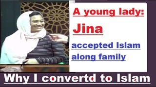 A young lady Jina's Declaration of Faith Shahadah with her family! How I converted to Islam