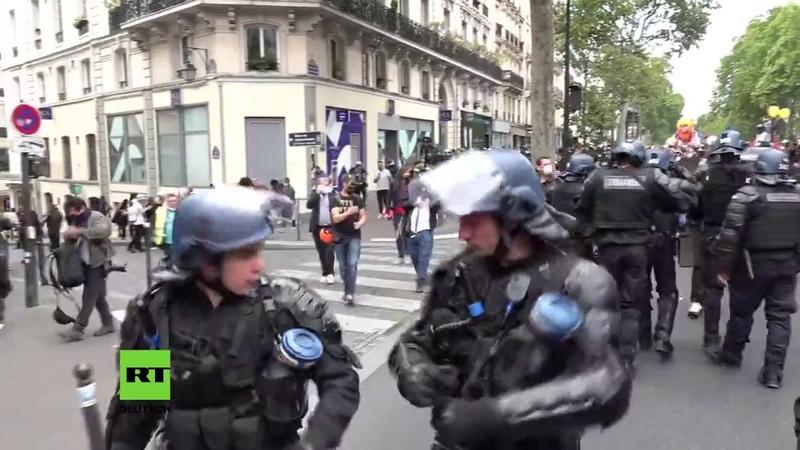 LIVE Paris – Anti-Regierungs-Proteste am französischen Nationalfeiertag