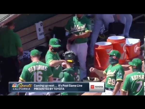 Did an Oakland A's coach make two Nazi salutes during a postgame celebration