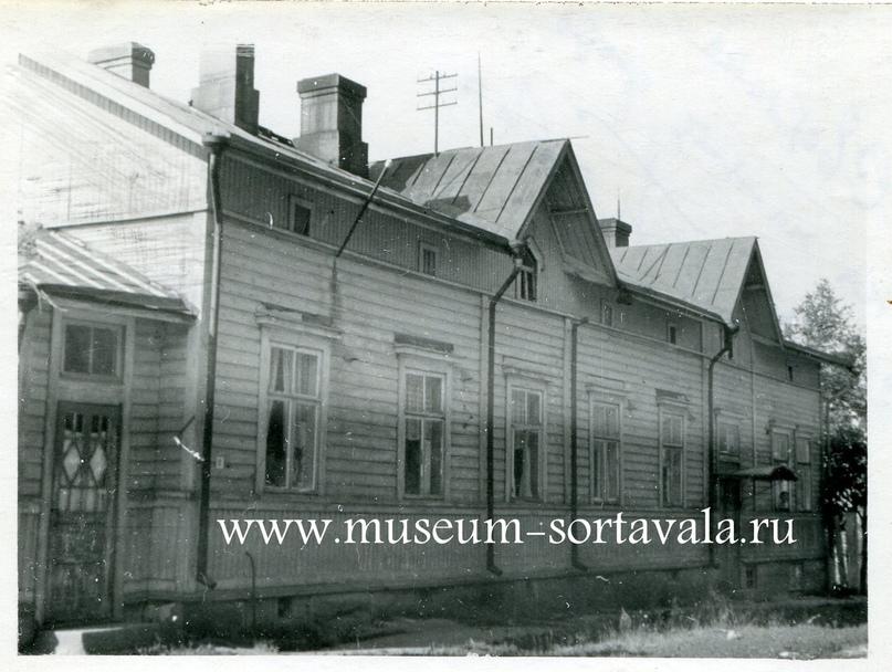 Дом, где жила семья Кюршуновых, на ул. Огородной (ныне Антикайнена). Фото около 1957 г. Ныне на этом месте детский сад «Ладушки»