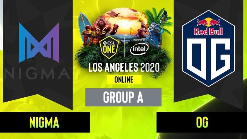 Dota2 Nigma vs OG Game 2 Group A EU CIS ESL One Los Angeles