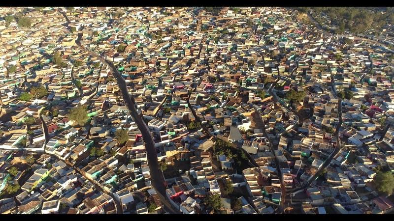 Drone flyover of UNESCO old city of Harar Ethiopia