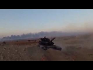 Т-90 в САР, база КСИР Абу Али, АльБукамаль