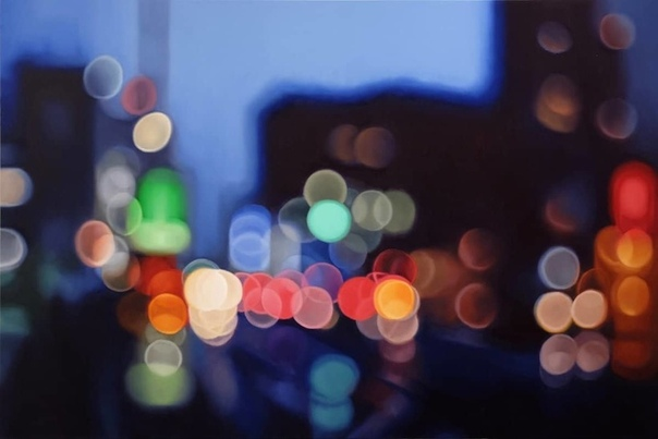 В своей серии абстрактных картин художник Филипп Барлоу передает мимолетные моменты, которые можно было бы увидеть через расфокусированный объектив камеры В искусстве фотографии это явление