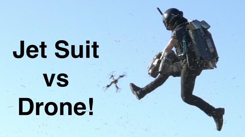 Jet Suit vs Drone!