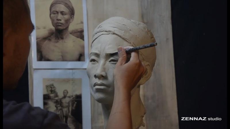 Các bước điêu khắc một tượng chân dung sculpture tutorial