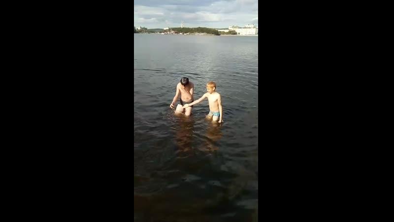 купание в семеновском озере