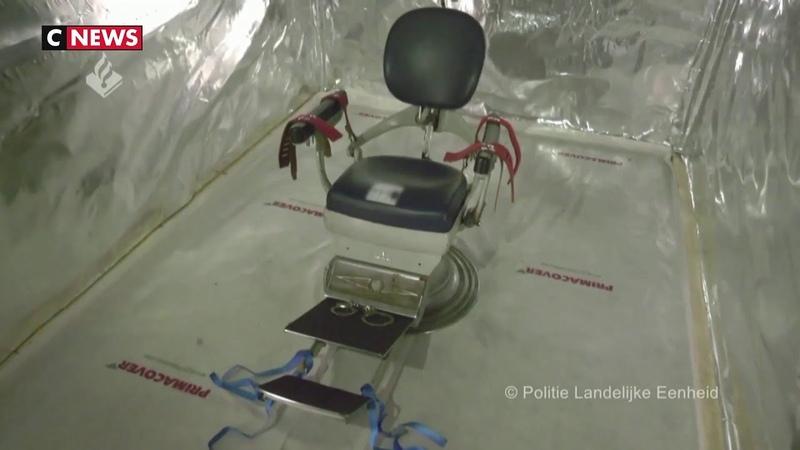 Pays Bas une salle de torture dans un container