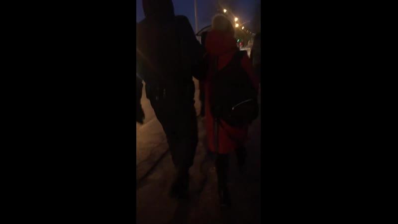 Вечером 22 января задержали активистку из Веснянки когда девушка собирала подписи за отзыв депутата